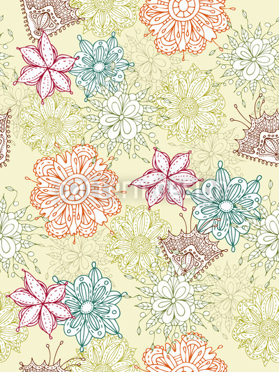 Flowers All Over Vector Design