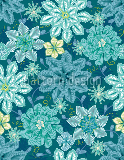 Flowers Say Adieu Pattern Design
