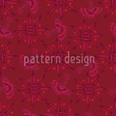 Flora In Cranberry Rapportiertes Design