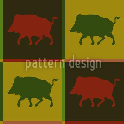 Wildschweinrevier Nahtloses Muster