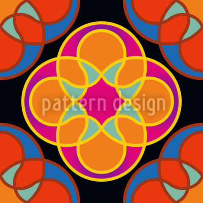Sunny Kaleidoscope Pattern Design