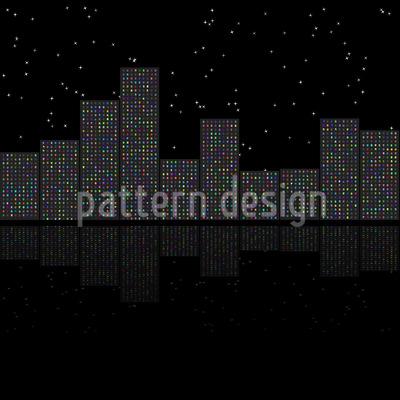Nachtlichter Der Großstadt Rapportiertes Design