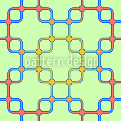 Verbindung In Quadrat Nahtloses Muster