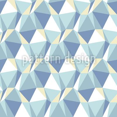 Dimensões no gelo Design de padrão vetorial sem costura