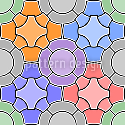 Mosaik Floral Designmuster