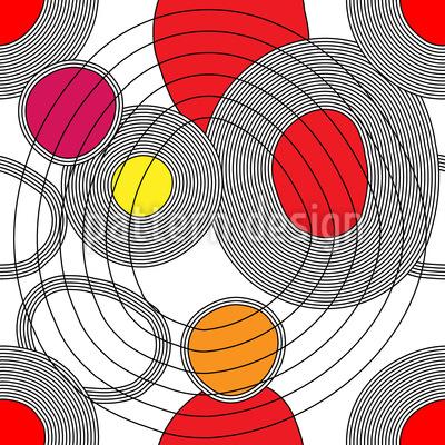 Kreistreffen Nahtloses Vektor Muster