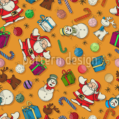 Christmas All Over Vector Design