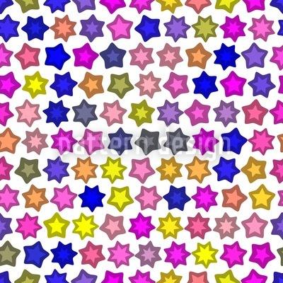 Sternenparade Pink Rapportiertes Design