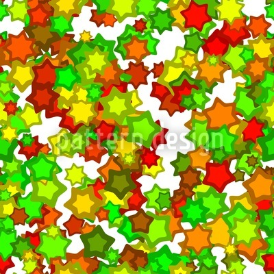 Colorful Star Dance Pattern Design