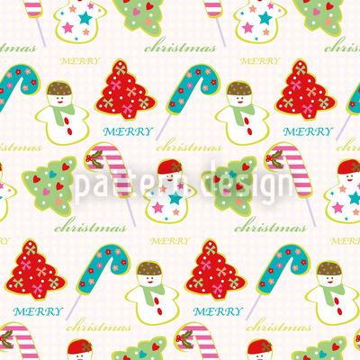 Süsse Weihnacht Nahtloses Vektor Muster
