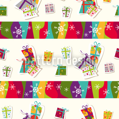 All I Want For Christmas Vector Pattern