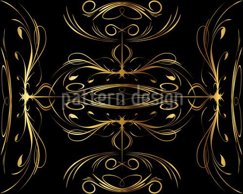 Schnörkel In Gold Muster Design