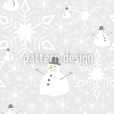 Let It Snow Man Vector Pattern