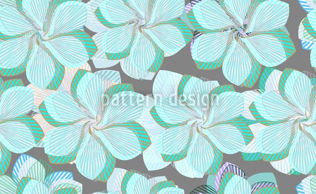 Zarte Faltblumen Blau Vektor Design