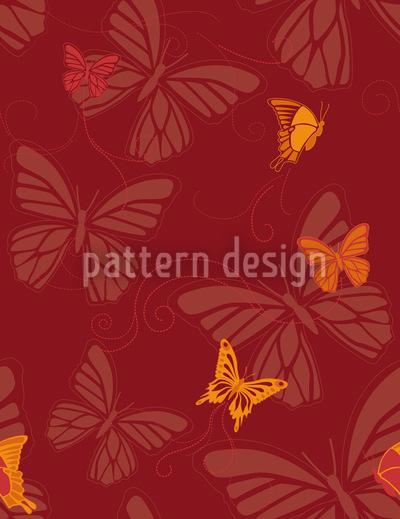 Schmetterlinge Im Abendrot Nahtloses Muster