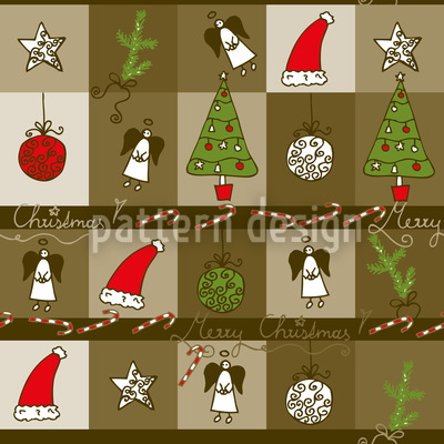 Christmas In A Wooden Box Vector Design