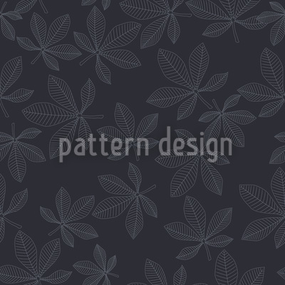 Chestnut Leaves In Winter Dress Seamless Pattern