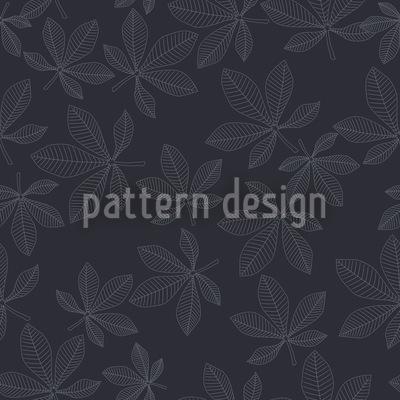 Kastanienblätter Im Winterkleid Nahtloses Muster