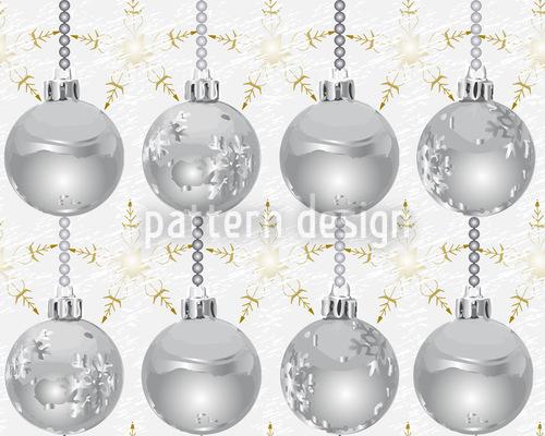 Sterne Glänzen Mit Silberkugeln Musterdesign