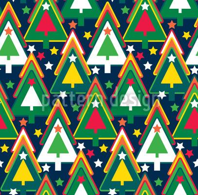 Es War Einmal Ein Sternenwald Vektor Ornament