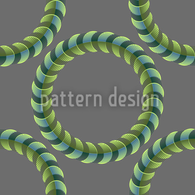 Lord Of The Spiral Rings Seamless Vector Pattern Design