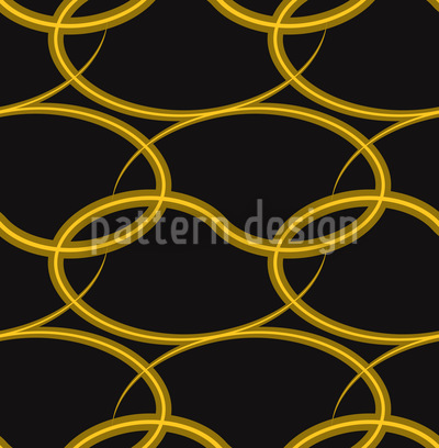 Golden Weave Seamless Vector Pattern