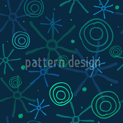 Meteoric Shower Seamless Vector Pattern Design
