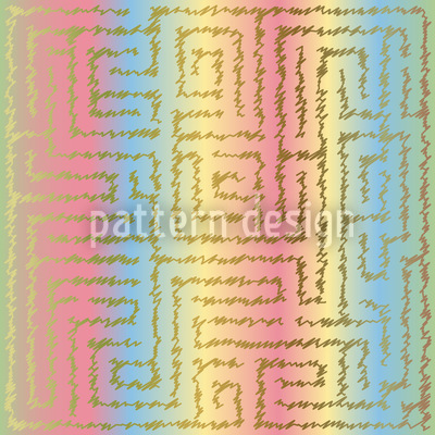 Zeichne Deinen Weg Muster Design