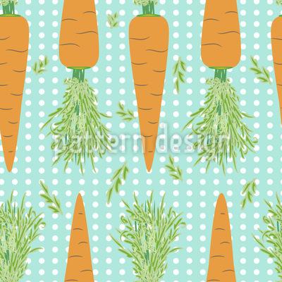 Lotta Carrota Dance Les Polka Dots Motif Vectoriel Sans Couture
