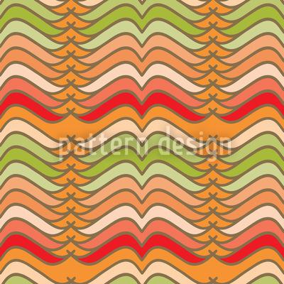 Mustache Waves Musterdesign