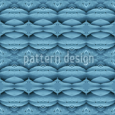 Blaue Wunderwelten Nahtloses Vektormuster