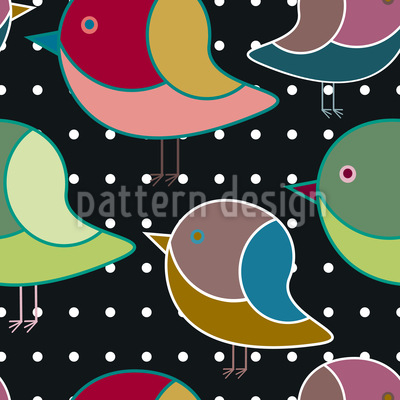 Wenn Vögelchen Träumen Nahtloses Vektor Muster