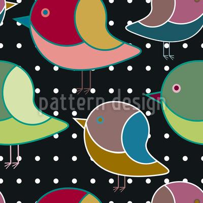 When Little Birds Dream Seamless Vector Pattern