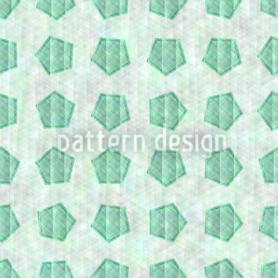 Das Smaragd Pentagon Muster Design