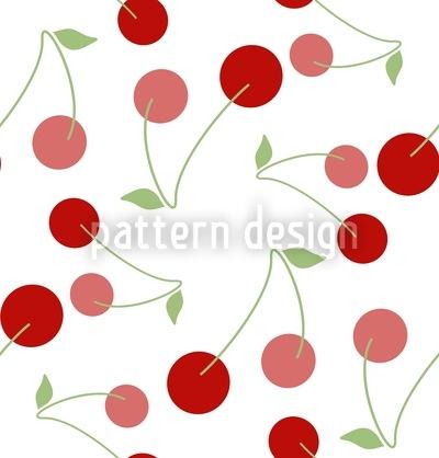 Kirschen Zum Nachtisch Vektor Ornament