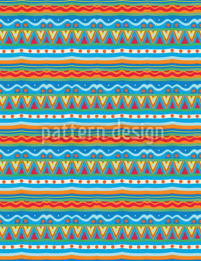 Fun Stripes Seamless Vector Pattern Design