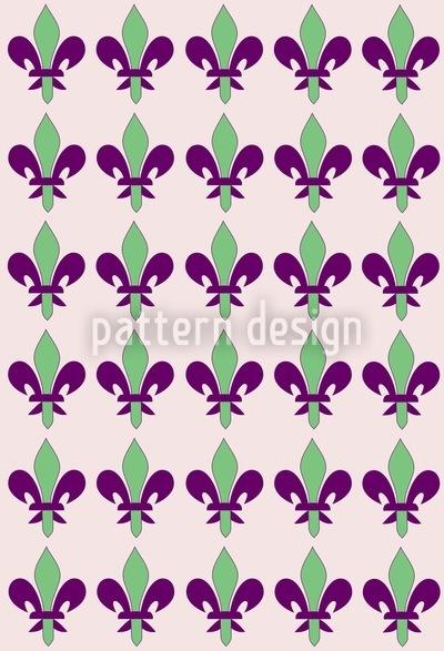 Fleurs De Lis Printemps Seamless Vector Pattern Design