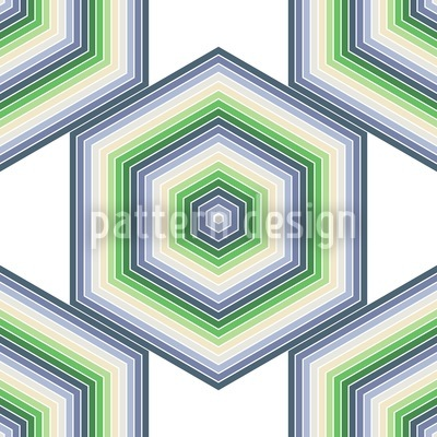 Spring In Hexagonia Pattern Design