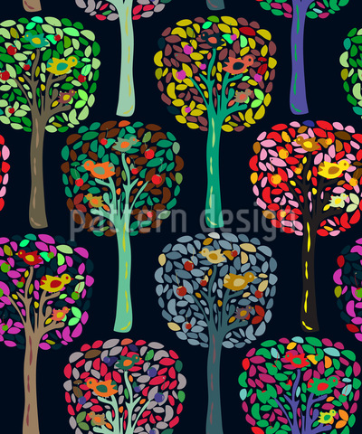 Cecilias Trees Seamless Pattern