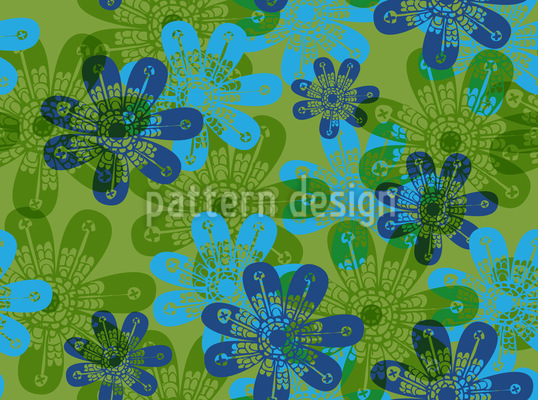 Blumen Stempel Nahtloses Muster