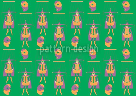 Masked Jester Vector Pattern