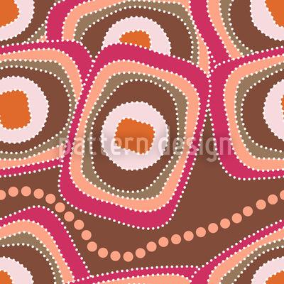 Die Schlange Frühstückt Im Outback Nahtloses Vektormuster