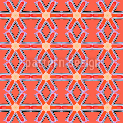 Star Crossing Abstract Seamless Pattern