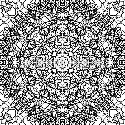 Розетта Вавилония Бесшовный дизайн векторных узоров
