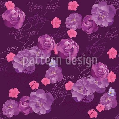 Les fleurs vous diront tout Motif Vectoriel Sans Couture