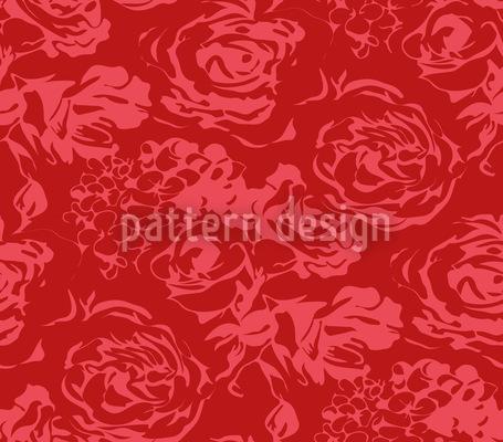 Romantische Rosen Rapportiertes Design