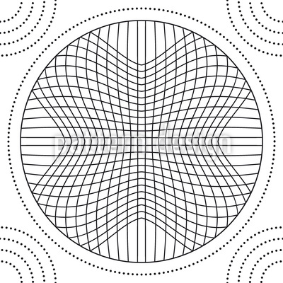 In The Circle Grid Repeat Pattern