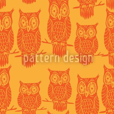 Eulen Gucken Muster Design