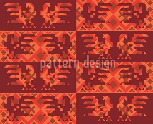 Solar Rooster Dance Design Pattern