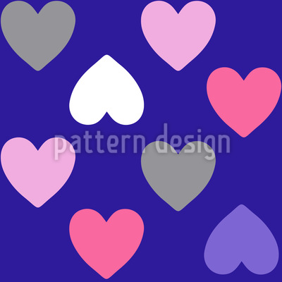 Purple Heart Seamless Pattern